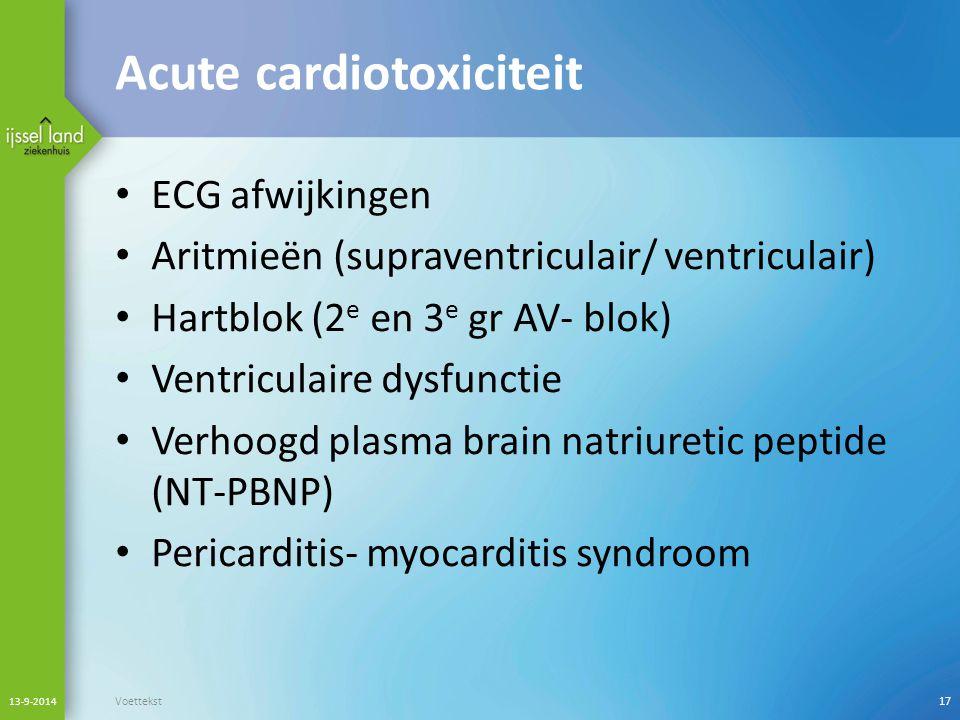 Acute cardiotoxiciteit