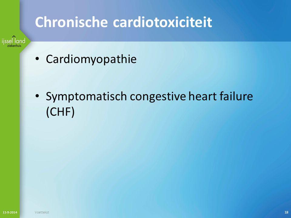 Chronische cardiotoxiciteit