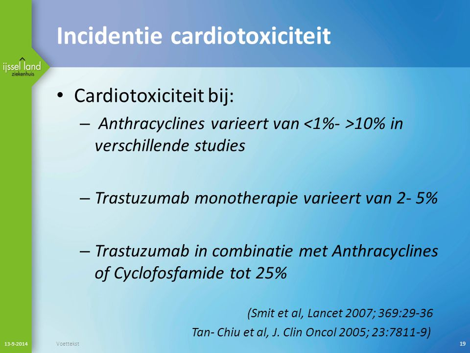 Incidentie cardiotoxiciteit