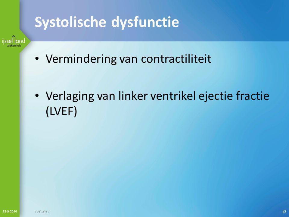 Systolische dysfunctie