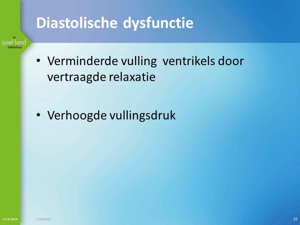 Diastolische dysfunctie