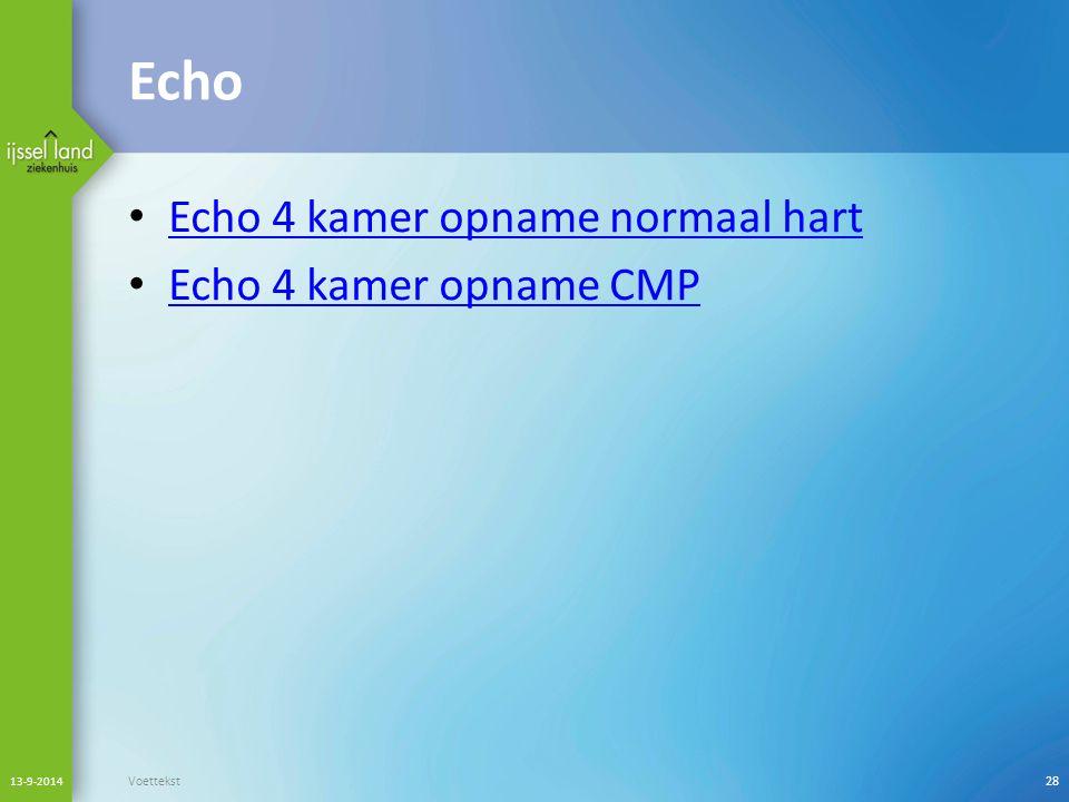 Echo Echo 4 kamer opname normaal hart Echo 4 kamer opname CMP