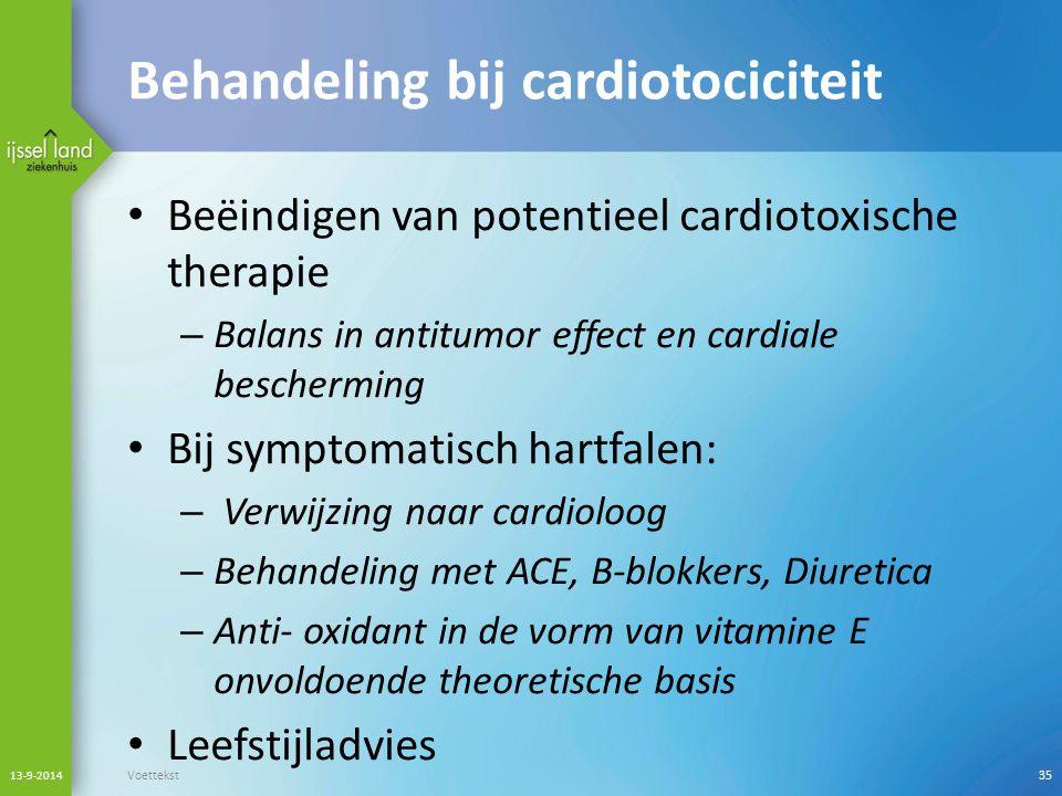 Behandeling bij cardiotociciteit