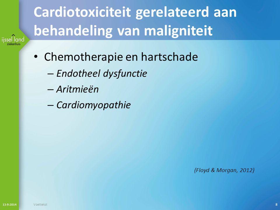 Cardiotoxiciteit gerelateerd aan behandeling van maligniteit