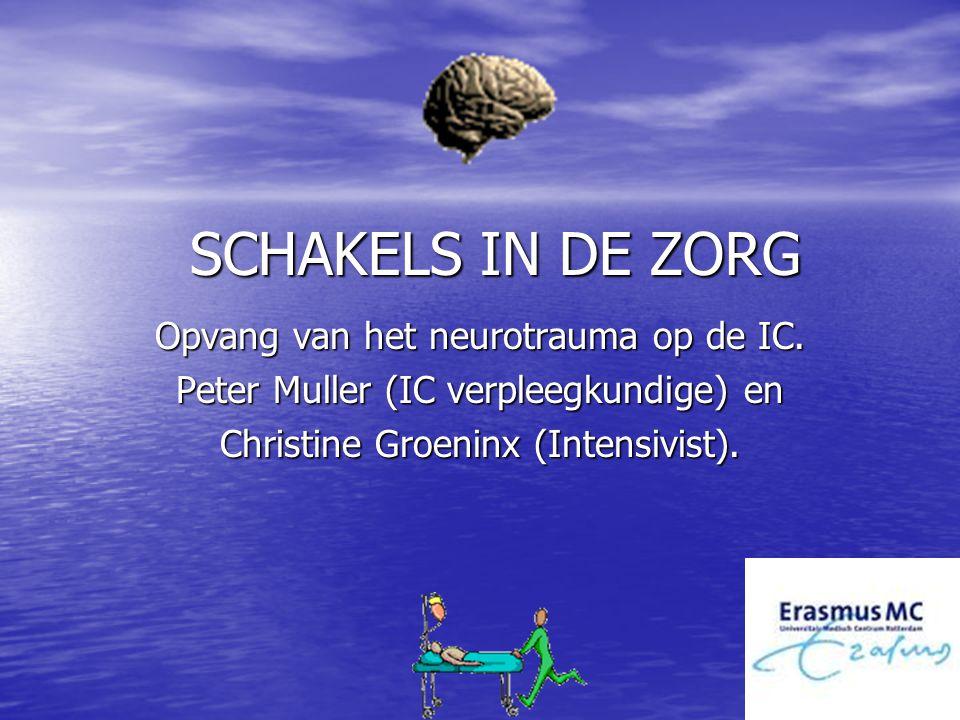 SCHAKELS IN DE ZORG Opvang van het neurotrauma op de IC.