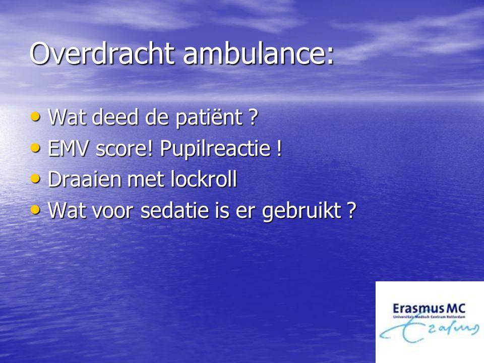 Overdracht ambulance: