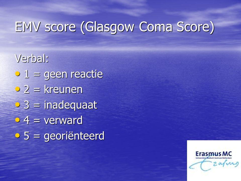 EMV score (Glasgow Coma Score)