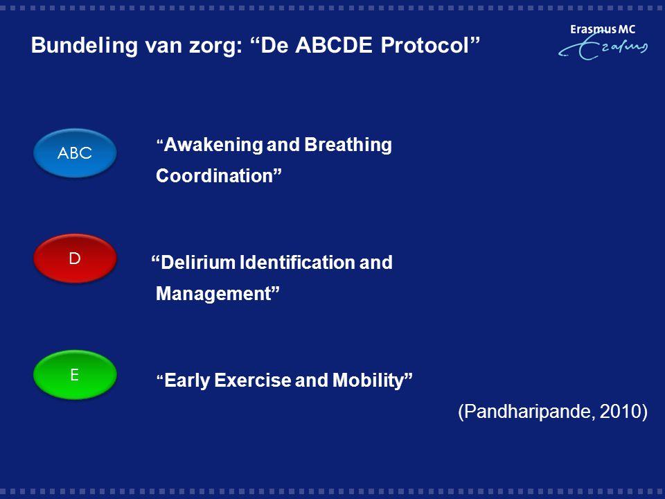 Bundeling van zorg: De ABCDE Protocol