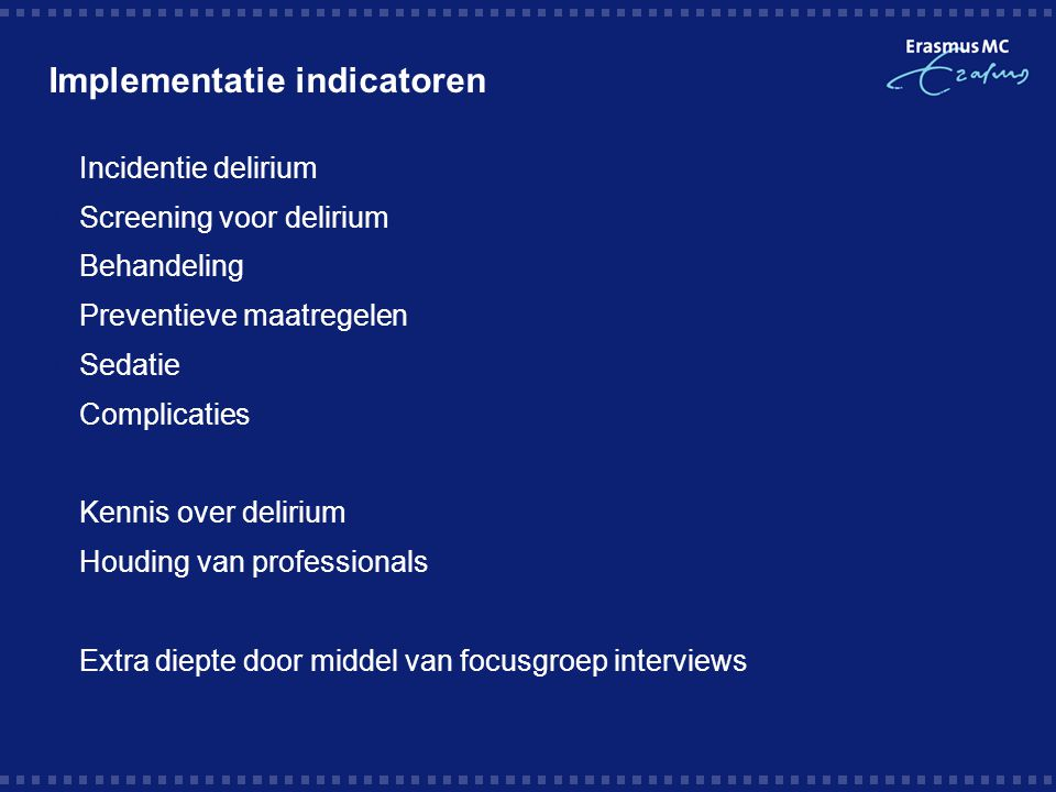 Implementatie indicatoren
