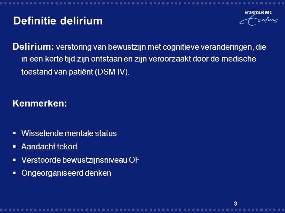 Definitie delirium