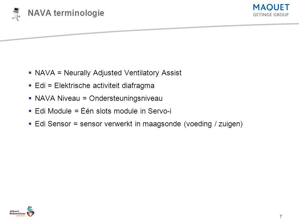 NAVA terminologie NAVA = Neurally Adjusted Ventilatory Assist
