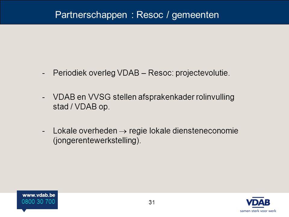 Partnerschappen : Resoc / gemeenten