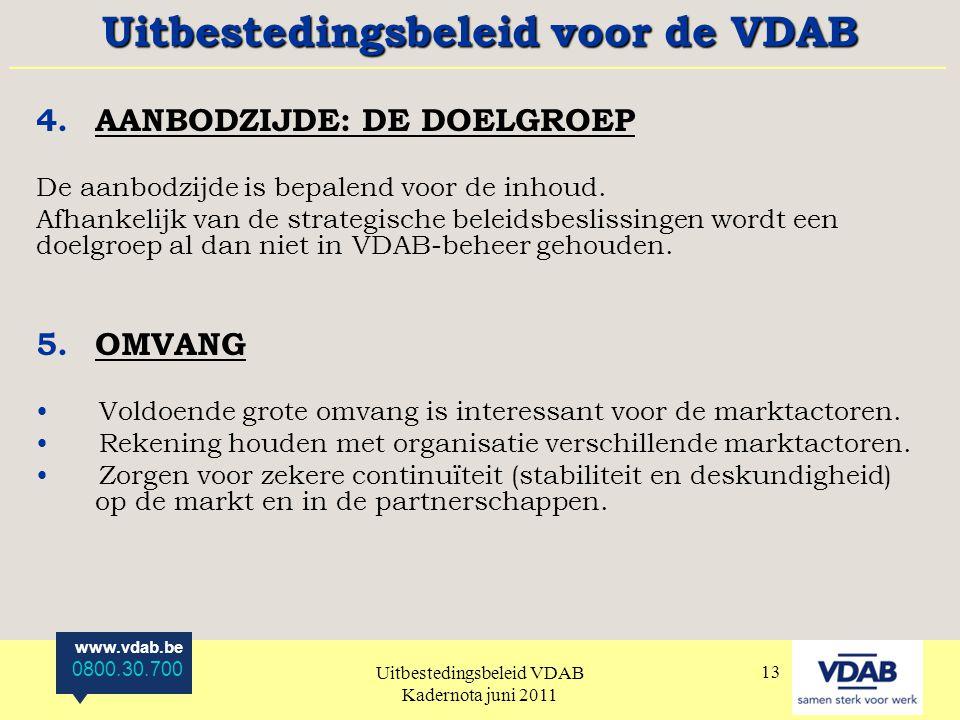 Uitbestedingsbeleid voor de VDAB