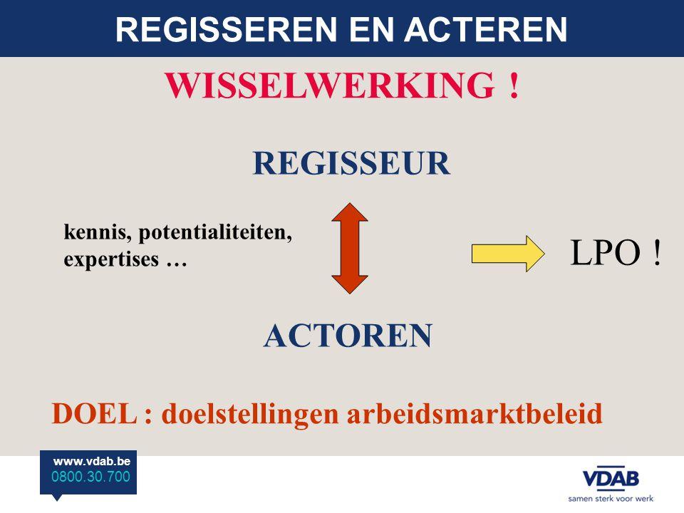 WISSELWERKING ! LPO ! REGISSEREN EN ACTEREN REGISSEUR ACTOREN