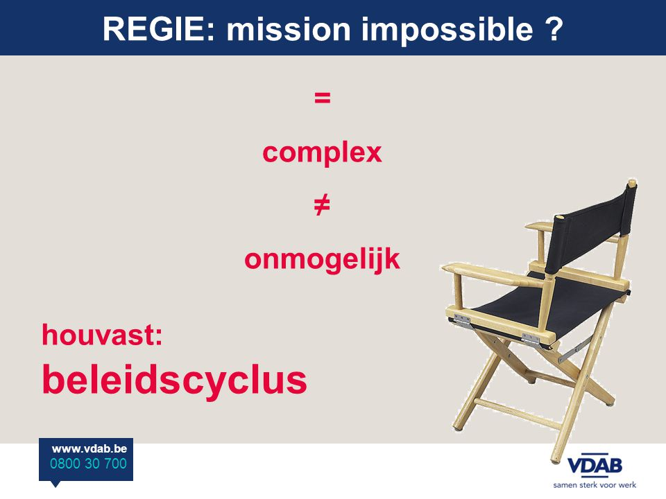REGIE: mission impossible