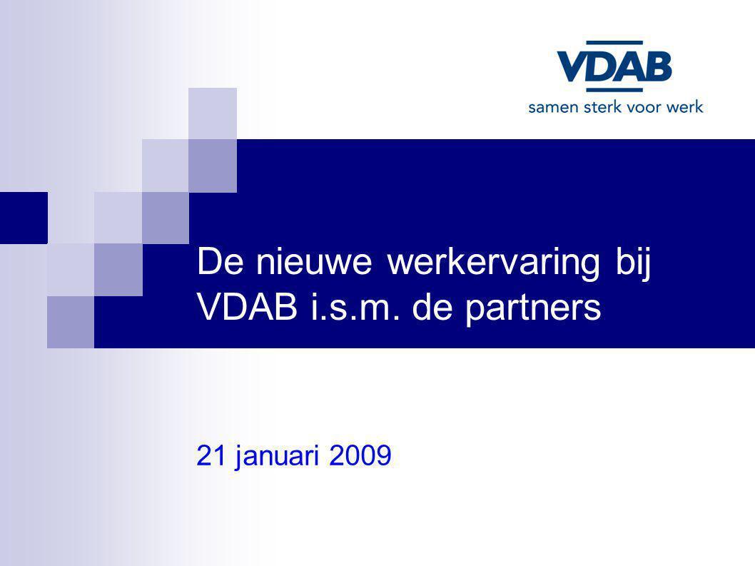 De nieuwe werkervaring bij VDAB i.s.m. de partners