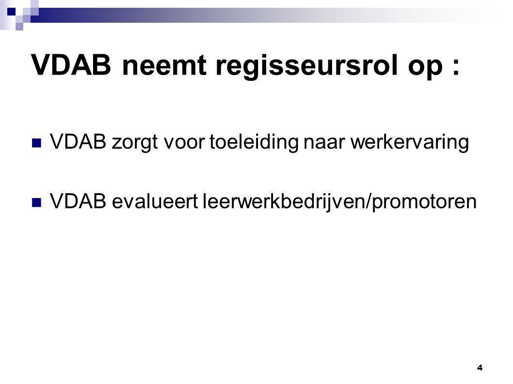 VDAB neemt regisseursrol op :