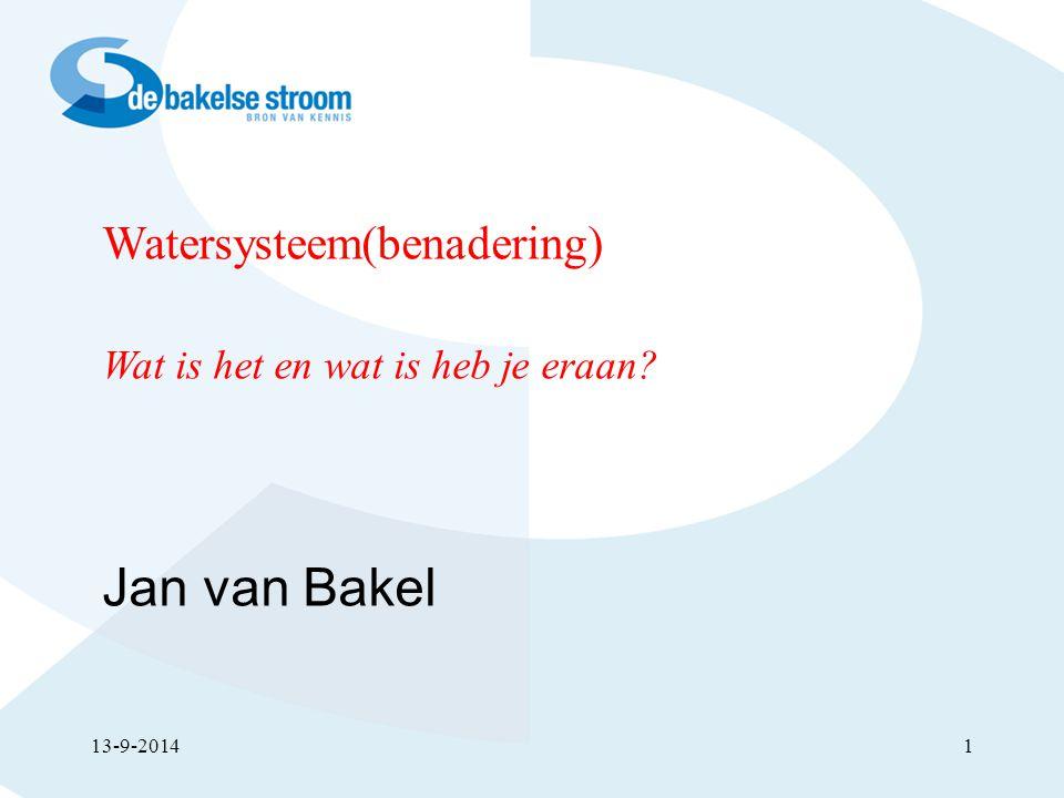 Jan van Bakel Watersysteem(benadering)