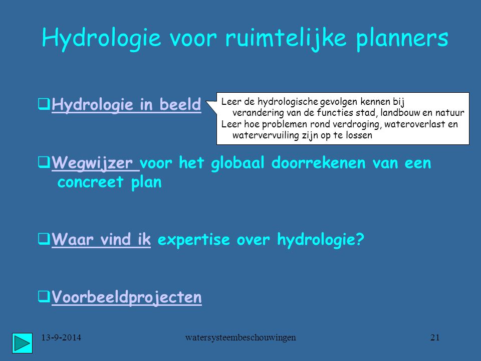 watersysteembeschouwingen