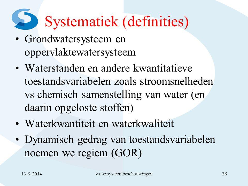 Systematiek (definities)