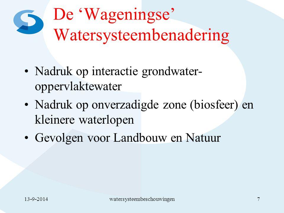 De 'Wageningse' Watersysteembenadering
