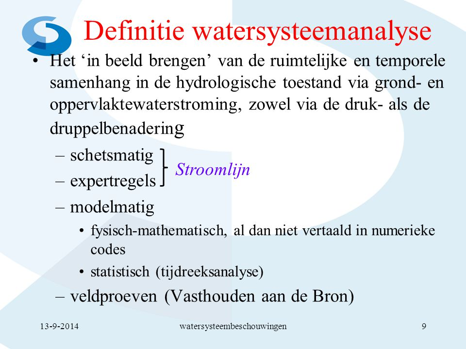 Definitie watersysteemanalyse