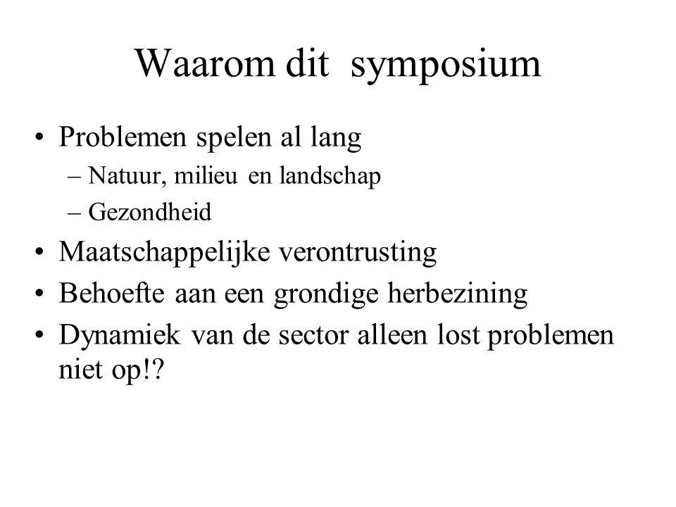 Waarom dit symposium Problemen spelen al lang