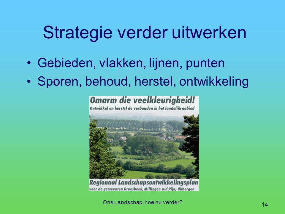 Strategie verder uitwerken