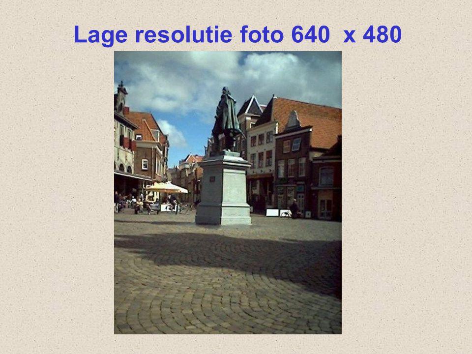 Lage resolutie foto 640 x 480 Dit is een foto die gemaakt is met een goedkope camera. Een resolutie van 640 x 480.