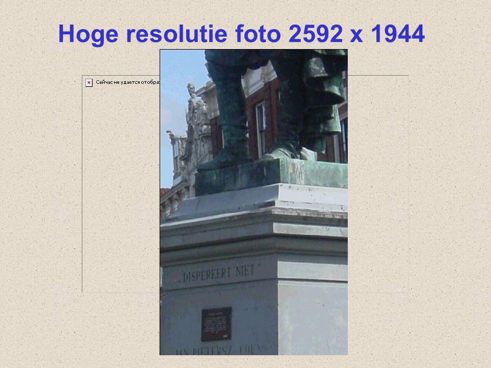Hoge resolutie foto 2592 x 1944 Dit is dezelfde foto, maar dan genomen met een hoge resolutie camera.