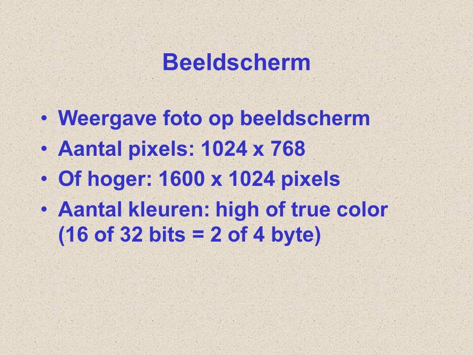 Beeldscherm Weergave foto op beeldscherm Aantal pixels: 1024 x 768