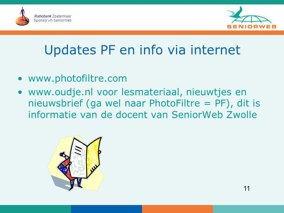 Updates PF en info via internet