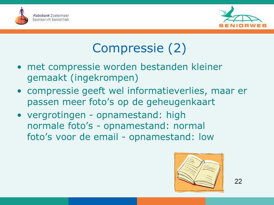 Compressie (2) met compressie worden bestanden kleiner gemaakt (ingekrompen)