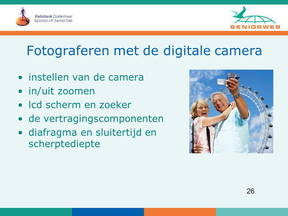 Fotograferen met de digitale camera