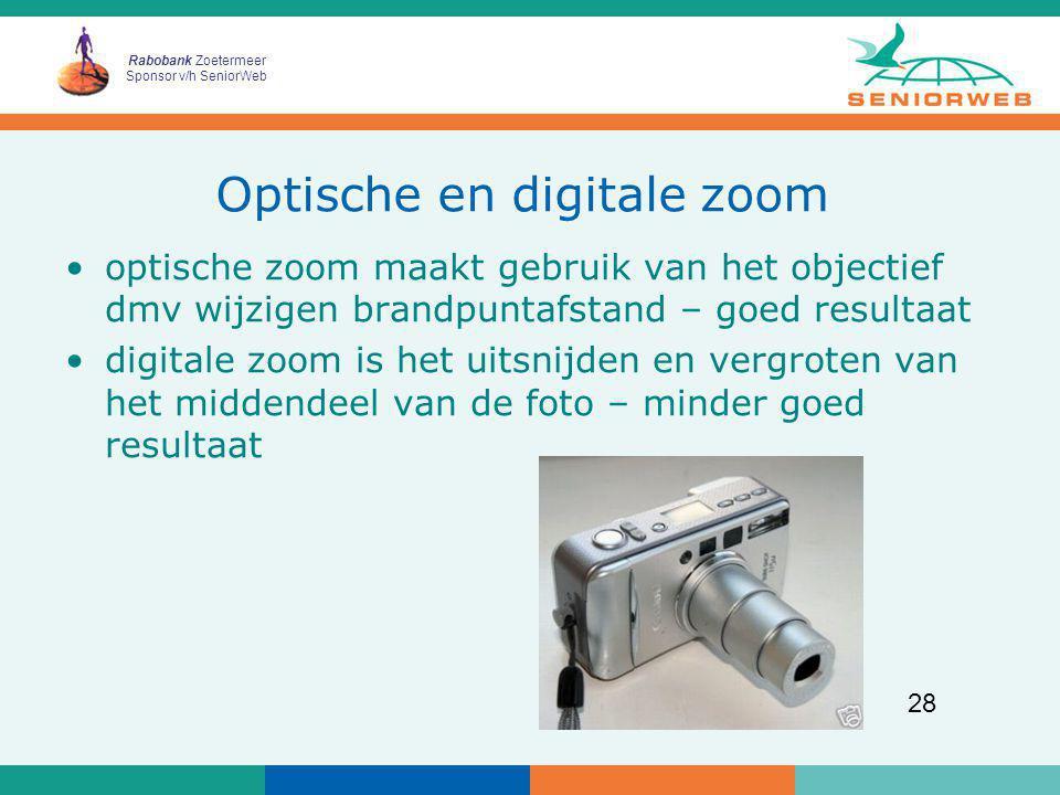 Optische en digitale zoom