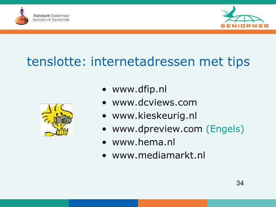 tenslotte: internetadressen met tips