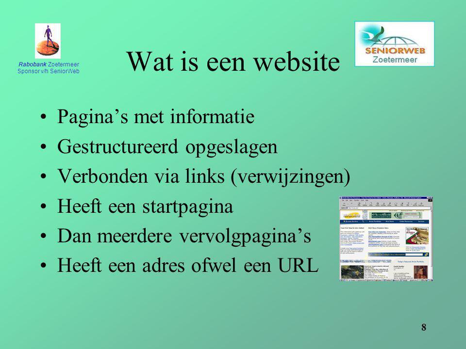 Wat is een website Pagina's met informatie Gestructureerd opgeslagen