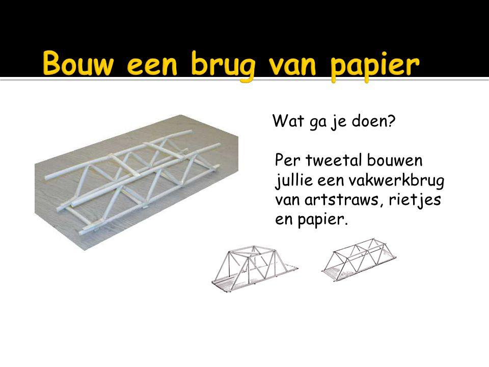 Bouw een brug van papier