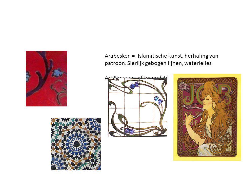 Arabesken = Islamitische kunst, herhaling van patroon