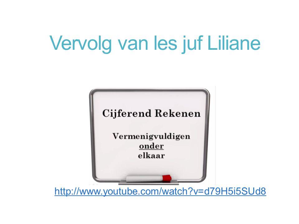 Vervolg van les juf Liliane
