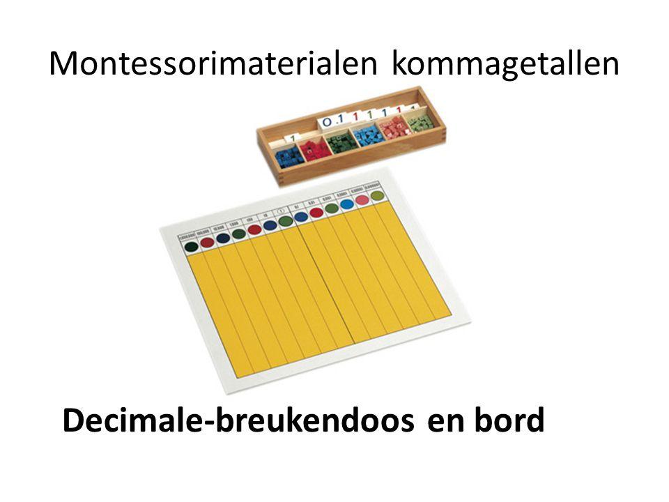 Montessorimaterialen kommagetallen