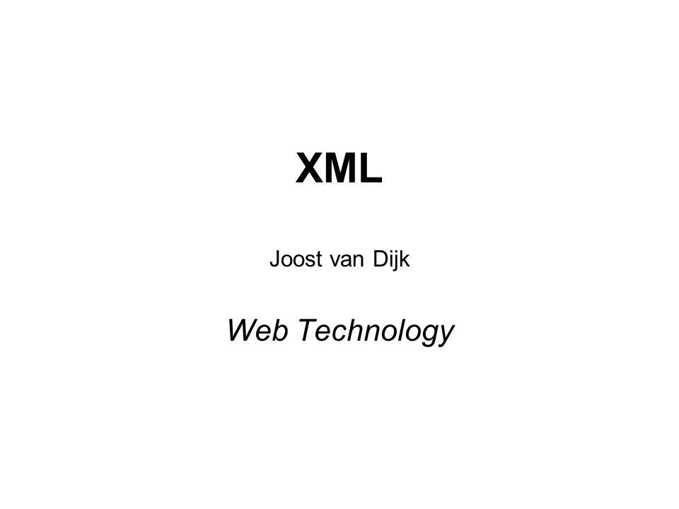 Joost van Dijk Web Technology