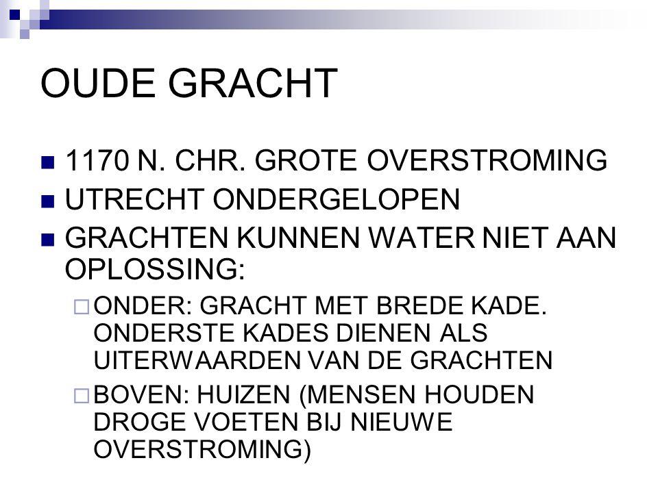 OUDE GRACHT 1170 N. CHR. GROTE OVERSTROMING UTRECHT ONDERGELOPEN