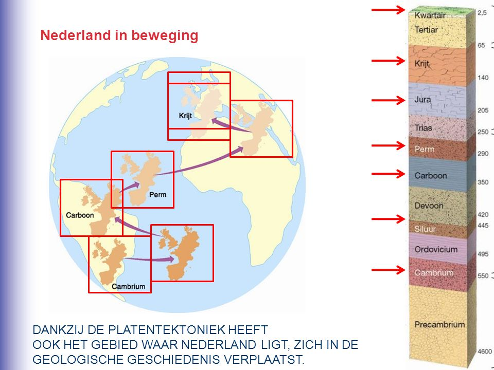 Nederland in beweging DANKZIJ DE PLATENTEKTONIEK HEEFT