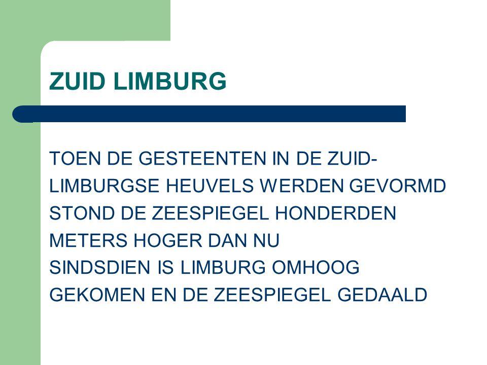 ZUID LIMBURG TOEN DE GESTEENTEN IN DE ZUID-