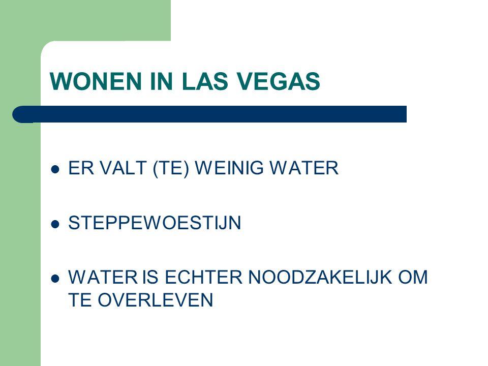 WONEN IN LAS VEGAS ER VALT (TE) WEINIG WATER STEPPEWOESTIJN