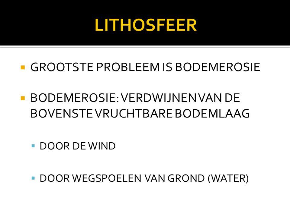 LITHOSFEER GROOTSTE PROBLEEM IS BODEMEROSIE