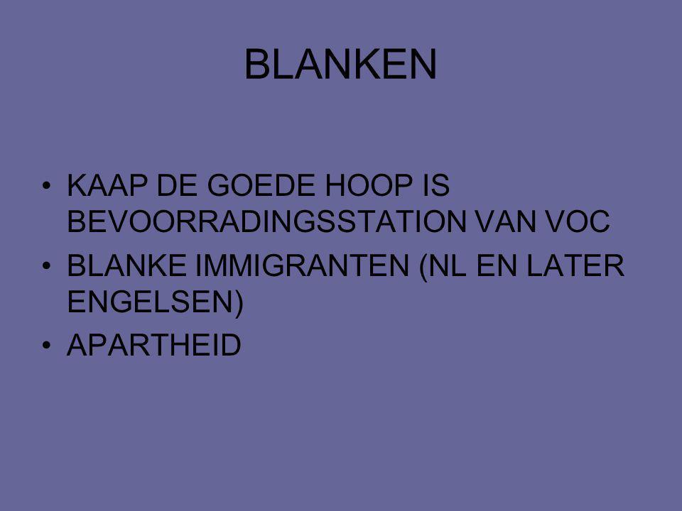 BLANKEN KAAP DE GOEDE HOOP IS BEVOORRADINGSSTATION VAN VOC