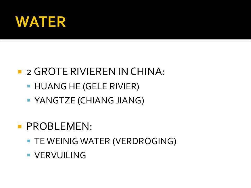 WATER 2 GROTE RIVIEREN IN CHINA: PROBLEMEN: HUANG HE (GELE RIVIER)