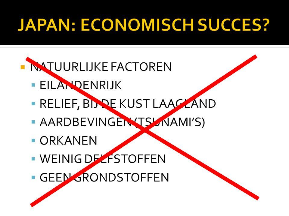 JAPAN: ECONOMISCH SUCCES